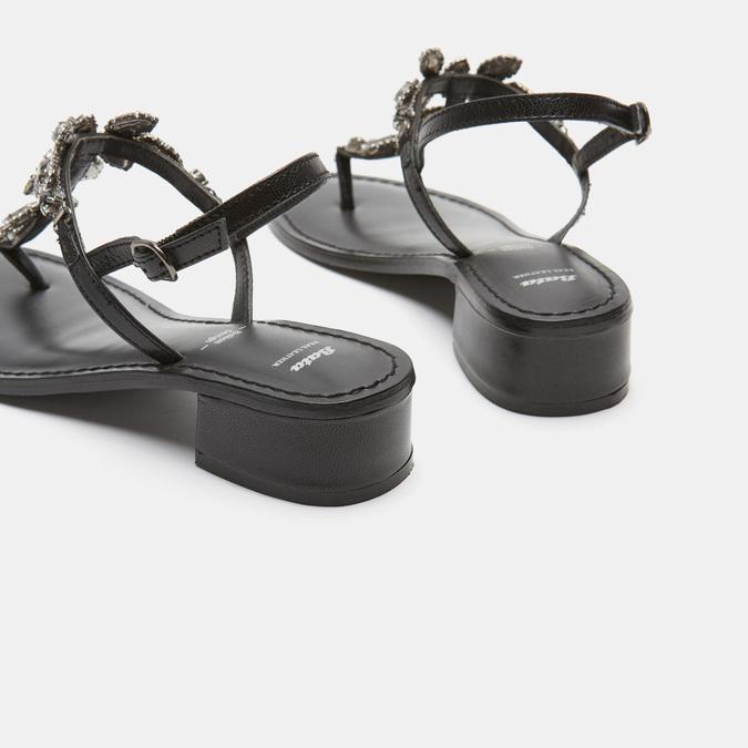 Sandales à demi-talon bata, Noir, 664-6408 - 15