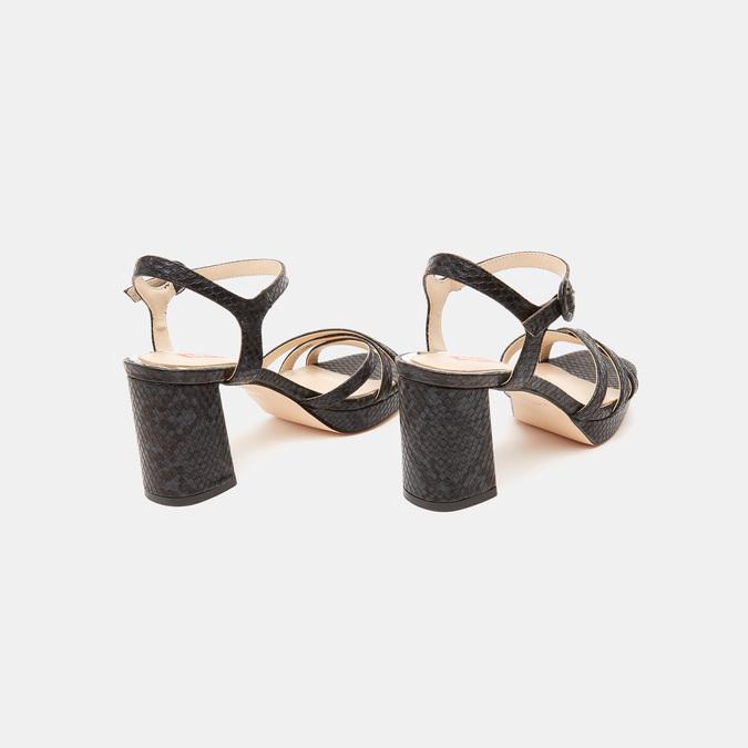 Sandales à demi-talon et à bride autour de la cheville bata-rl, Noir, 761-6852 - 15
