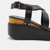 Sandales compensées bata, Noir, 764-6985 - 26