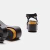 Sandales compensées bata, Noir, 764-6985 - 15