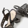 Sandales à talon large bata, Noir, 761-6861 - 15