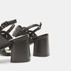 Sandales à talon large bata, Noir, 761-6860 - 15