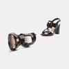 Sandales à talon large bata, Noir, 761-6849 - 19