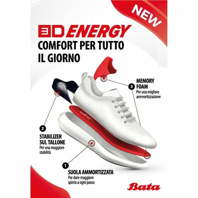 Baskets à lacets Bata 3D Energy bata-3d-energy, Noir, 849-6992 - 18