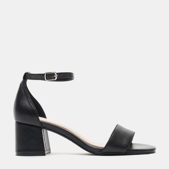 Sandales à talon large bata, Noir, 764-6862 - 13