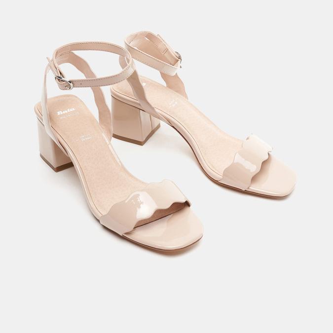 Sandales à talon large bata, Rouge, 761-5872 - 26