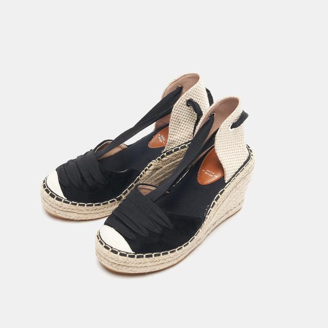 Sandales compensées bata, Noir, 769-6868 - 26