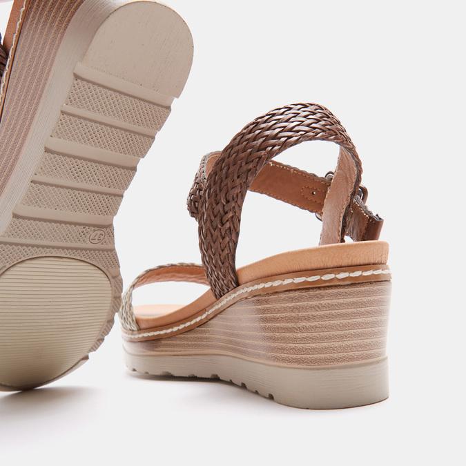 Sandales compensées bata, Blanc, 761-1947 - 17
