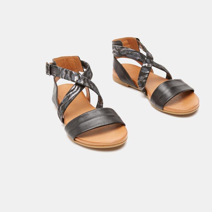 Sandales à bride bata, Noir, 564-6827 - 16