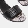 Sandales à plateforme bata, Noir, 764-6970 - 26
