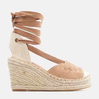 Sandales compensées bata, Brun, 769-3868 - 13