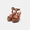 Sandales compensées bata-rl, Brun, 764-3982 - 19