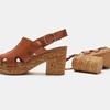 Sandales à plateforme bata, Brun, 764-3980 - 19