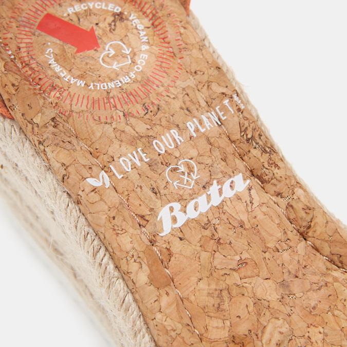 Sandales compensées bata, d'Orange, 769-5983 - 16