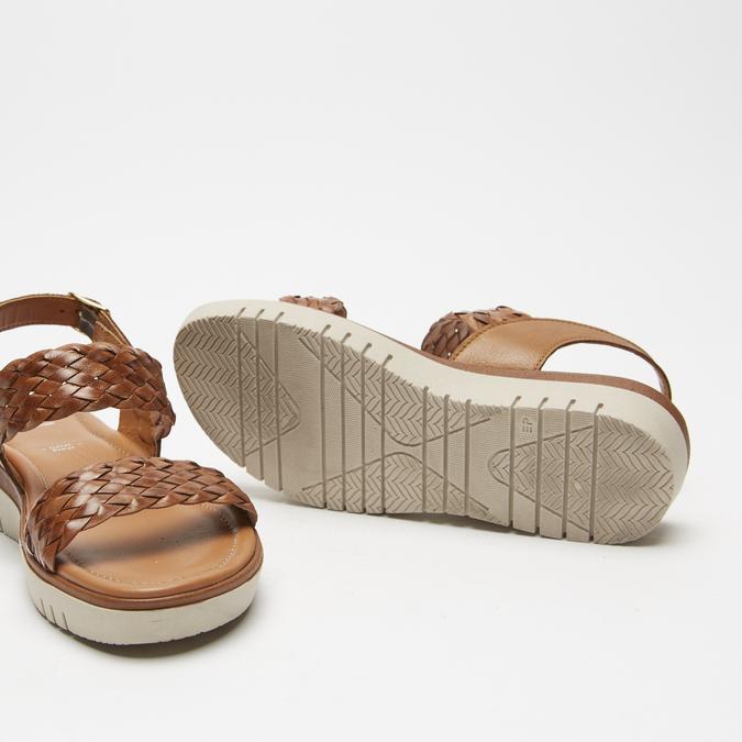 Sandales femme à plateforme bata, Brun, 664-4522 - 19