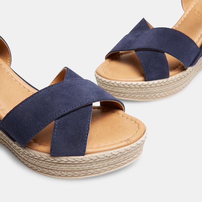 Sandales compensées bata, Bleu, 763-9963 - 15