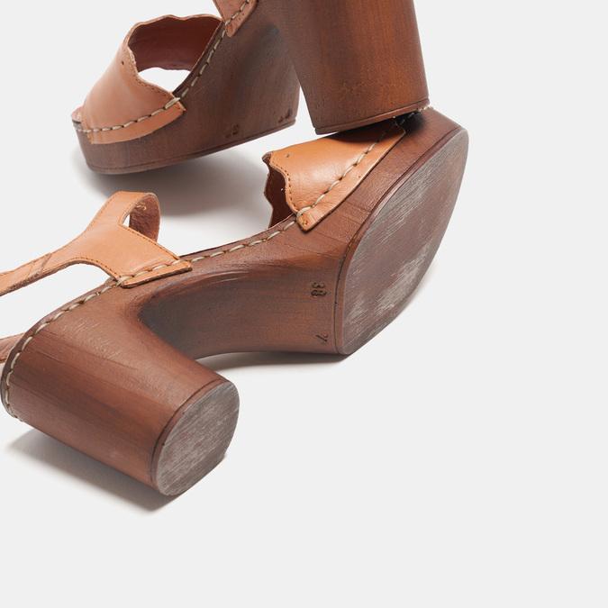 Sandales à talon bata, Brun, 764-4977 - 15
