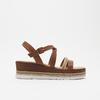 Sandales à plateforme bata, Brun, 764-3941 - 13