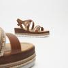 Sandales à plateforme bata, Brun, 764-3941 - 17