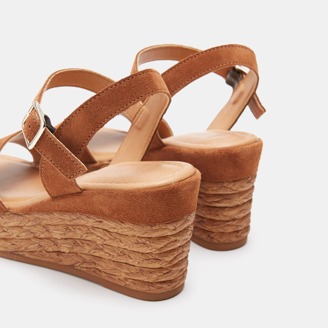 Sandales compensées bata, Brun, 763-4938 - 17