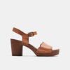 Sandales à talon bata, Brun, 764-4977 - 13