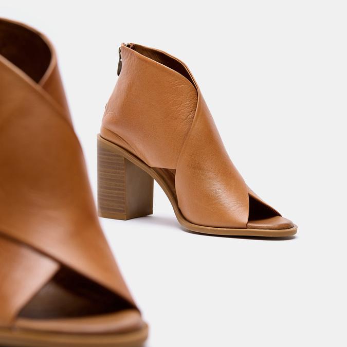 Sandales à talon bata, Brun, 724-3284 - 17