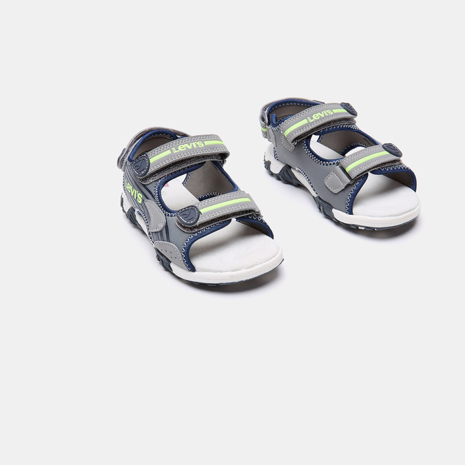 Sandales garçon levis, Gris, 361-2117 - 16