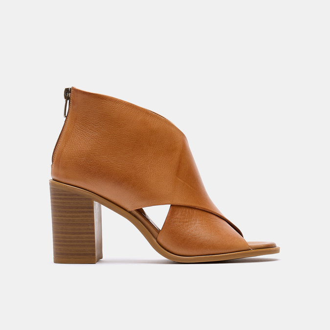 Sandales à talon bata, Brun, 724-3284 - 13