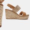 Sandales compensées bata, Beige, 769-8968 - 17