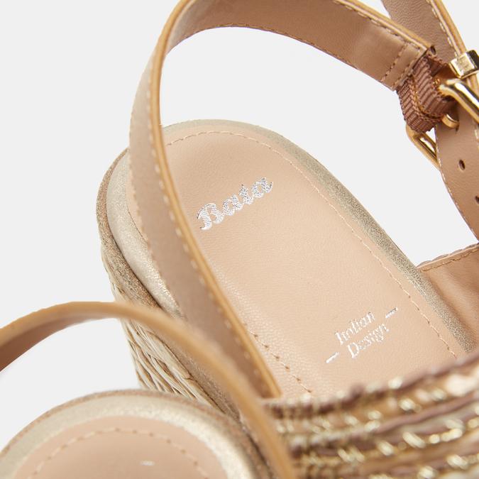 Sandales compensées bata, Beige, 769-8968 - 19