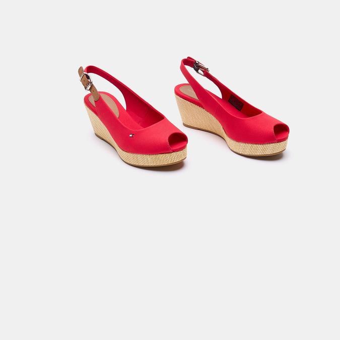 Sandales compensées tommy-hilfiger, Rouge, 669-5189 - 16