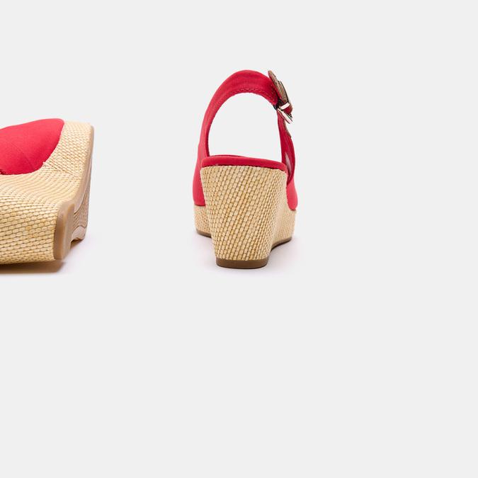 Sandales compensées tommy-hilfiger, Rouge, 669-5189 - 15