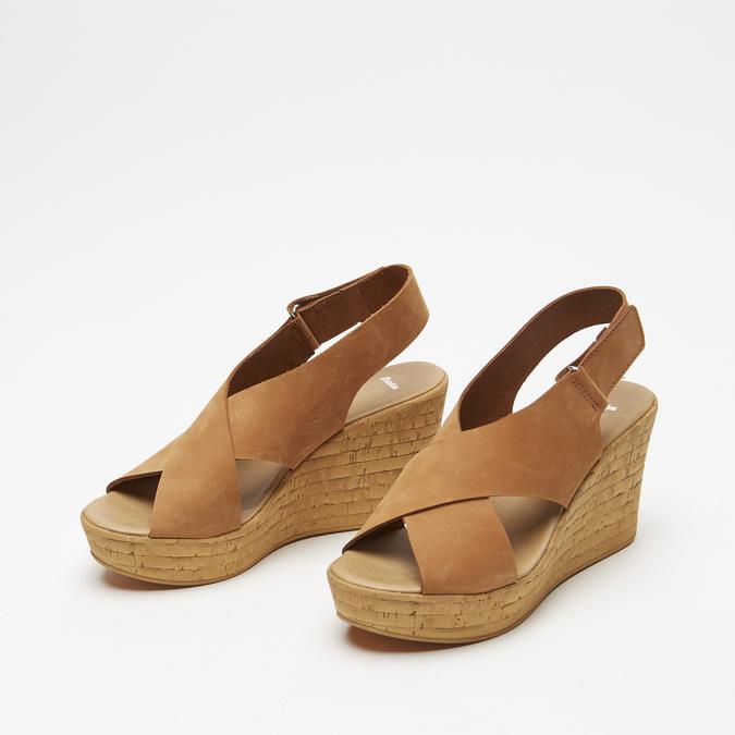 Sandales compensées bata, Brun, 766-3964 - 19