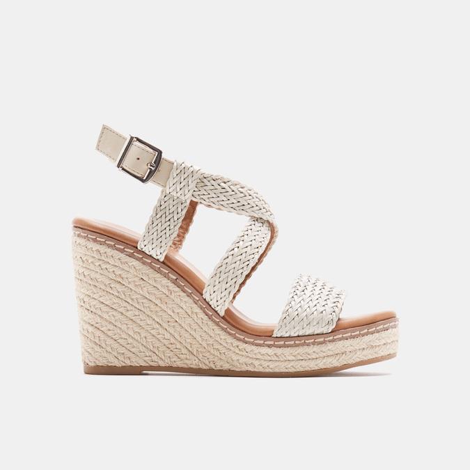 Sandales compensées bata, Blanc, 761-1961 - 13