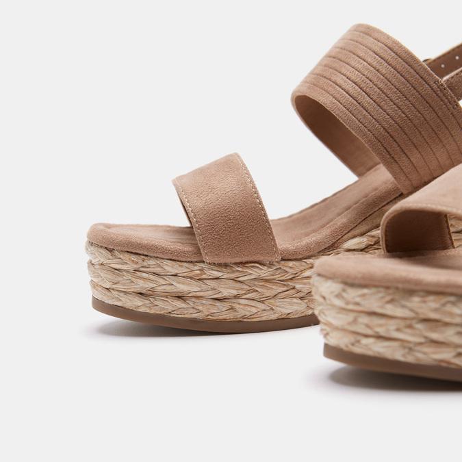 Sandales compensées bata, Jaune, 769-8960 - 15