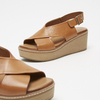 Sandales à plateforme bata, Brun, 764-3966 - 26