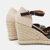 Sandales compensées bata, Noir, 769-6962 - 26