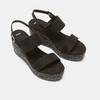 Sandales compensées bata, Noir, 769-6960 - 19