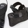 Sandales compensées bata, Noir, 761-6949 - 17