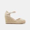 Sandales compensées bata, Or, 769-8953 - 13