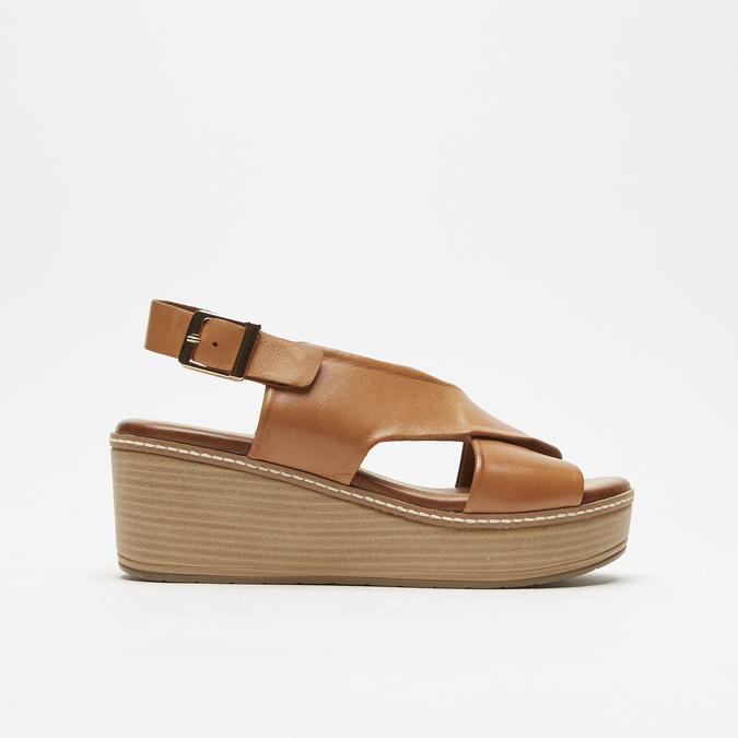 Sandales à plateforme bata, Brun, 764-3966 - 13