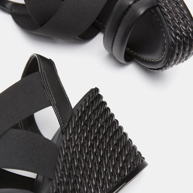 Sandales compensées bata, Noir, 761-6949 - 16