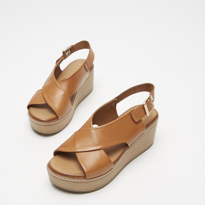 Sandales à plateforme bata, Brun, 764-3966 - 15