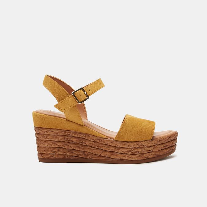 Sandales compensées bata, Jaune, 763-8938 - 13