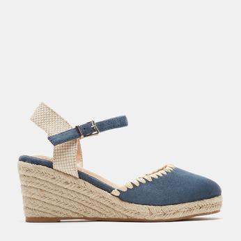 Sandales compensées bata, Bleu, 769-9871 - 13