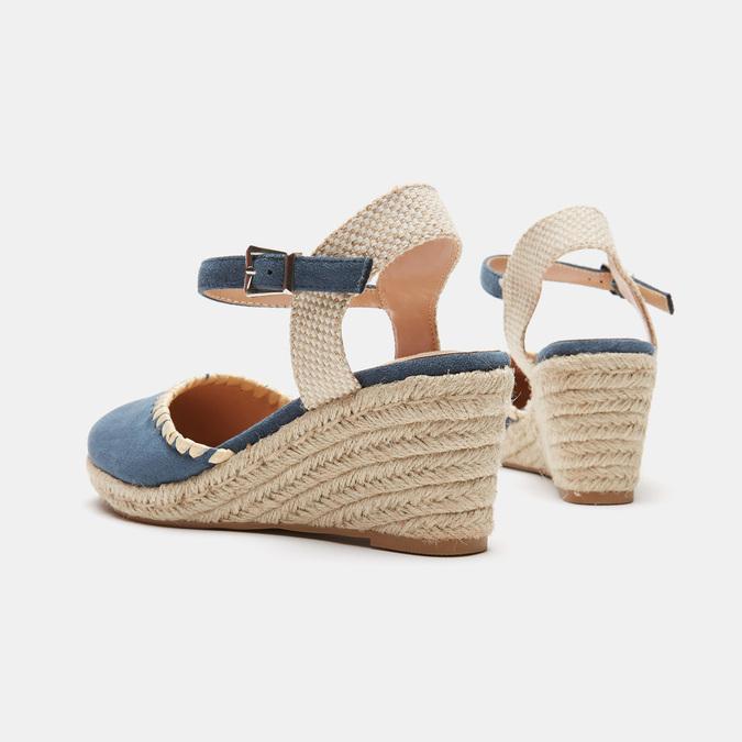Sandales compensées bata, Bleu, 769-9871 - 15