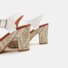 Sandales à talon large et à plateforme bata, Blanc, 761-1866 - 15