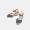 Sandales compensées bata, Bleu, 769-9871 - 16