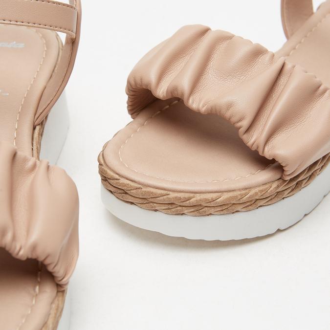 Sandales à plateforme bata, Rose, 761-5289 - 16