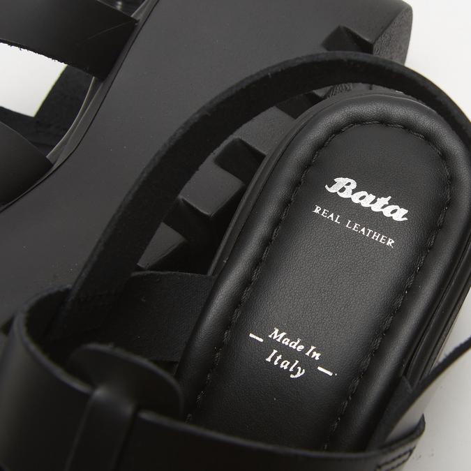 Sandales à plateforme bata, Noir, 764-6130 - 17